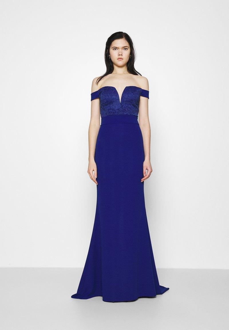 WAL G. - LOW PLUNGE NECK DRESS - Suknia balowa - electric blue