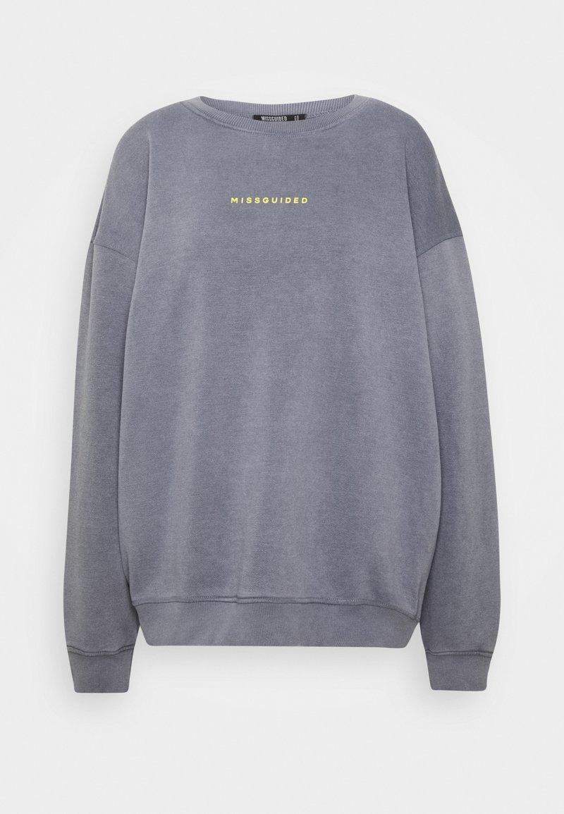 Missguided Tall - WASHED SWEAT - Sweatshirt - grey
