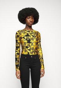 Versace Jeans Couture - LADY BUSTIER - Top sdlouhým rukávem - black - 0