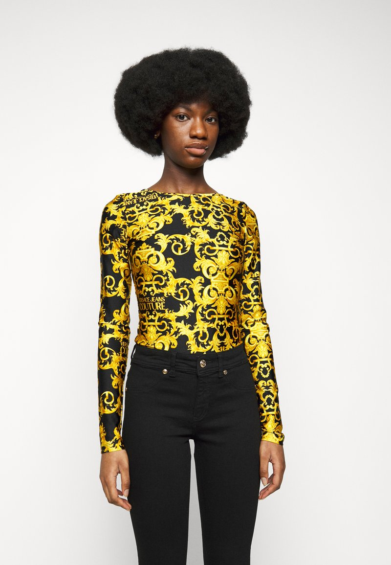 Versace Jeans Couture - LADY BUSTIER - Long sleeved top - black