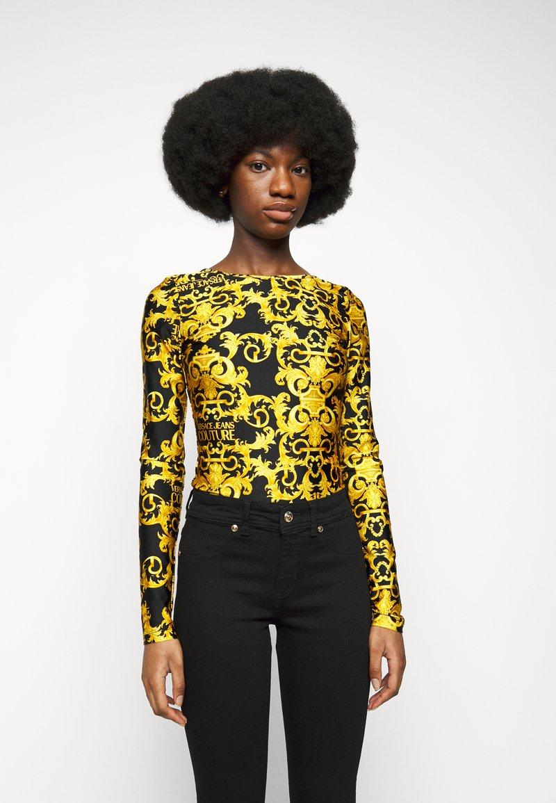 Versace Jeans Couture - LADY BUSTIER - Top sdlouhým rukávem - black