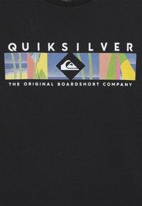 Quiksilver - DISTANT FORTUNE - Printtipaita - black - 3