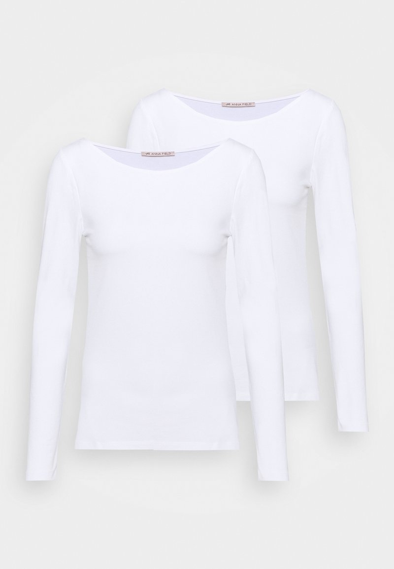 Anna Field - 2 PACK - Long sleeved top - white