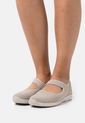 BE COOL - Ballerina's met enkelbandjes - taupe/natural