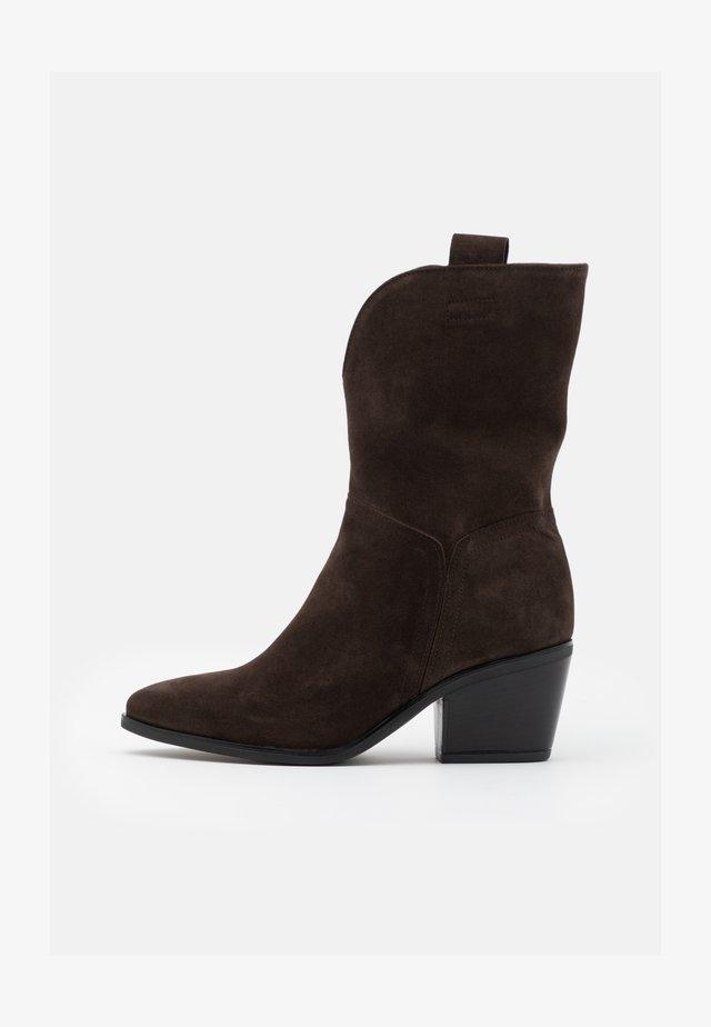 Cowboy- / bikerstøvler - english brown