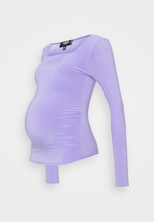 SQUARE NECK - Long sleeved top - lilac