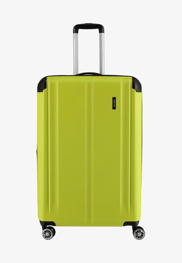 CITY  - Wheeled suitcase - lemon