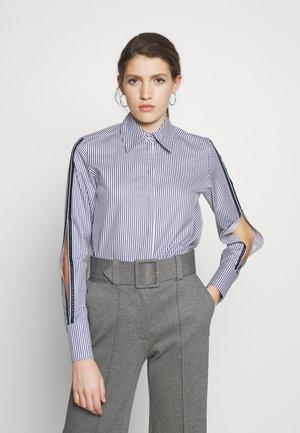 SPLIT SLEEVE  - Button-down blouse - middle blue/white