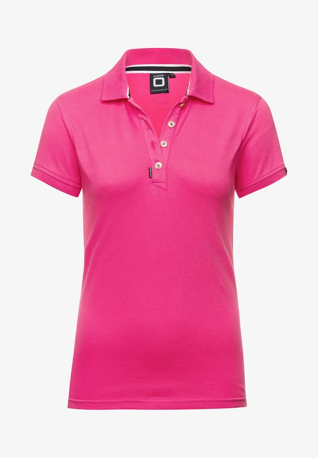 Polo shirt - neon pink