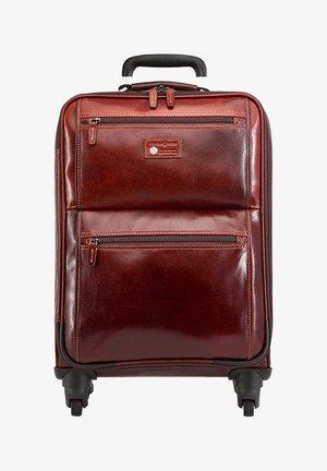 OXFORD - Wheeled suitcase - tobacco