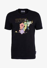 Versace Jeans Couture - FLORAL RAT LOGO - T-shirt print - black - 3