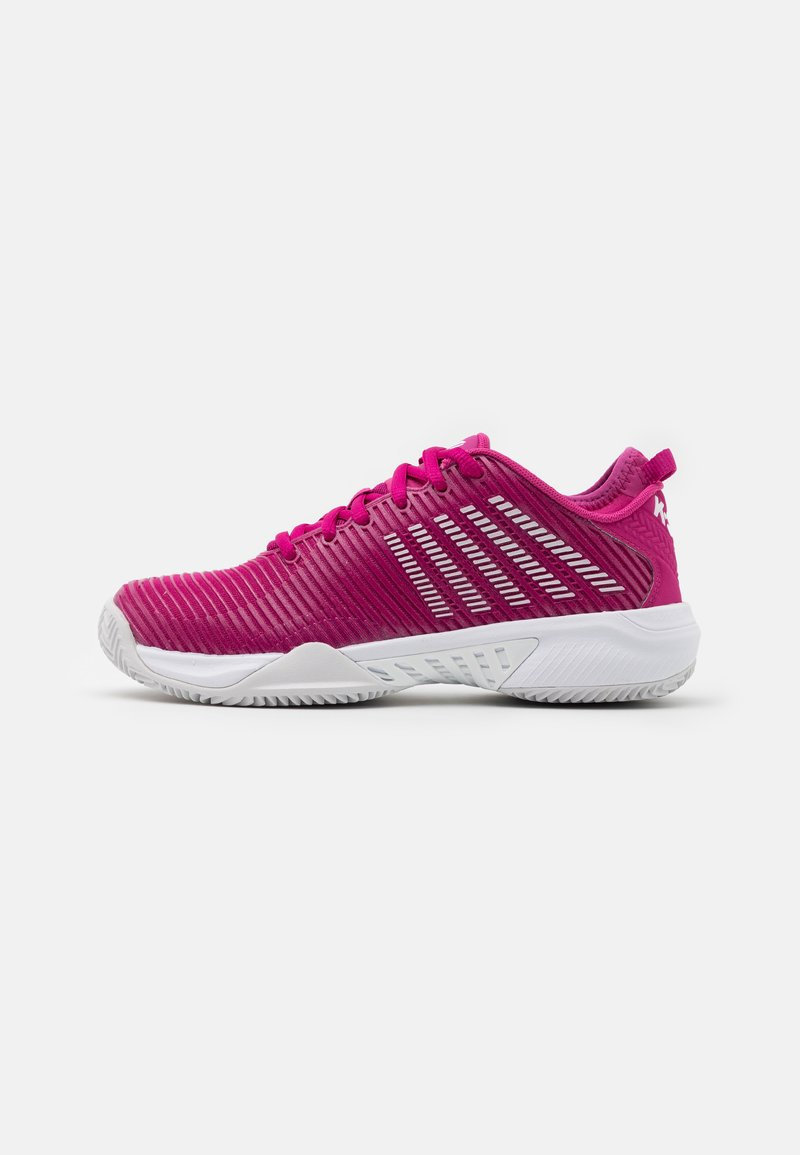 K-SWISS - HYPERCOURT SUPREME HB - Clay court tennis shoes - cactus flower/nimbus cloud/white