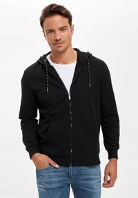 DeFacto - Zip-up hoodie - black - 0