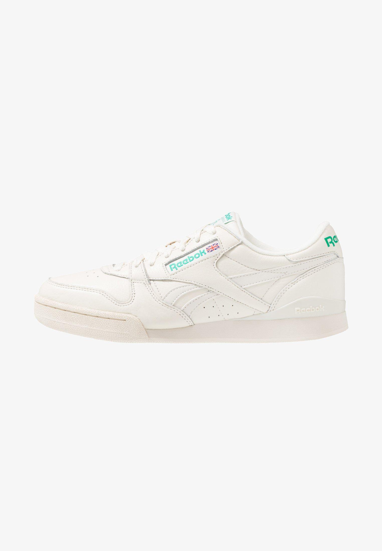Reebok Classic Phase 1 Pro Soft Suede Retro Shoes Sneaker Low Chalk Paperwhite Emerald Offwhite Zalando De