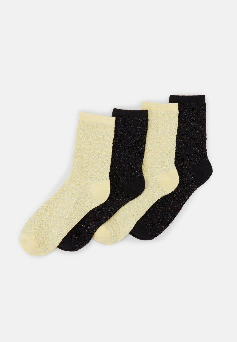 Pieces - PCRAYMA SOCKS 4 PACK - Ponožky - golden haze