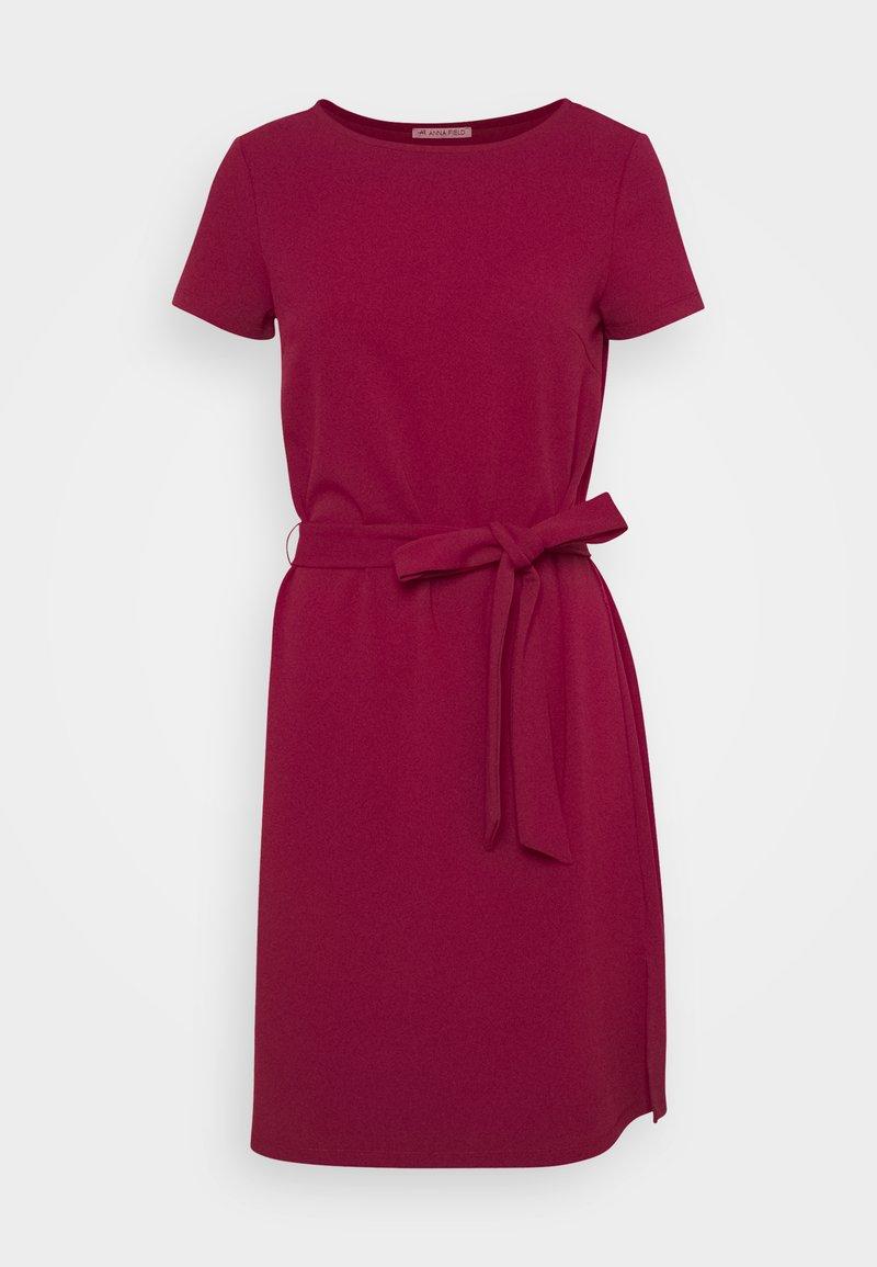 Anna Field - Sukienka z dżerseju - dark red