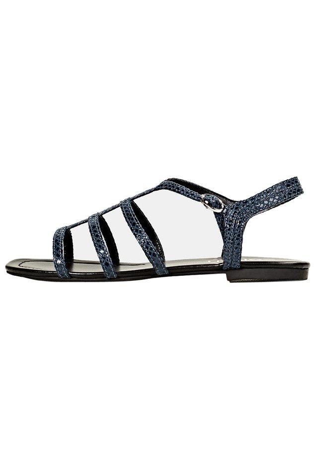 KIMA SNAKE - Sandals - navy