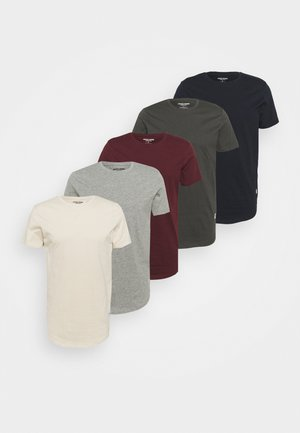 JJENOA TEE CREW NECK 5 PACK - T-shirt basic - port royale