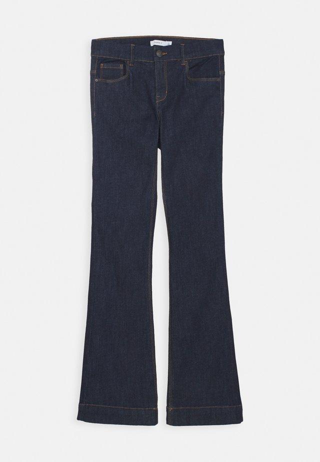 NKFPOLLY DNMTEJAS BOOT PANT - Flared Jeans - dark blue denim