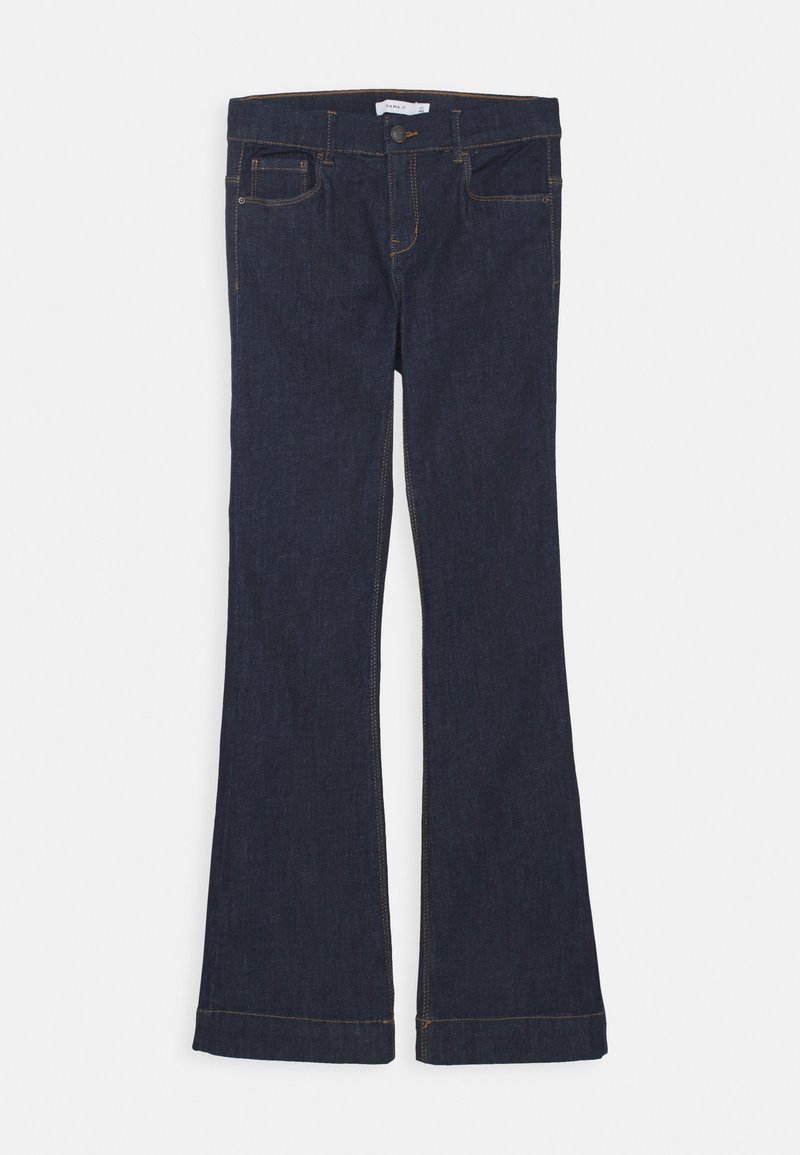 Name it - NKFPOLLY DNMTEJAS BOOT PANT - Flared Jeans - dark blue denim