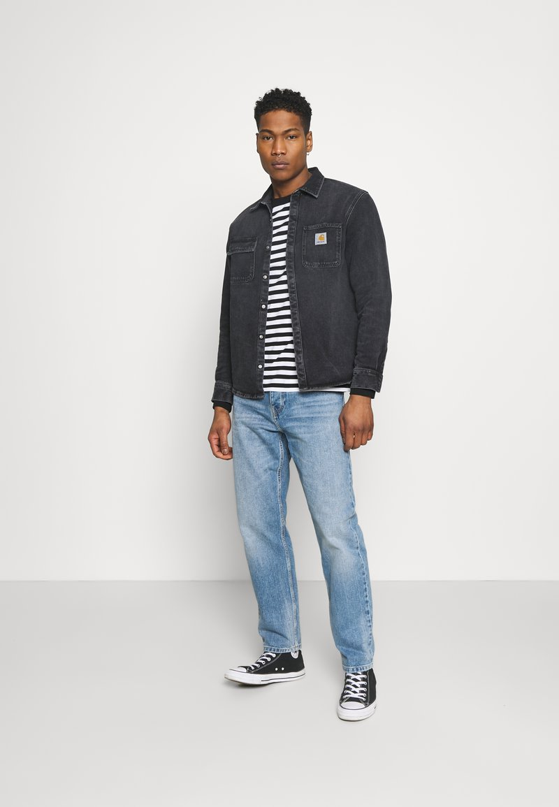 Carhartt WIP - SALINAC JAC MAITLAND - Camicia - black middle worn wash