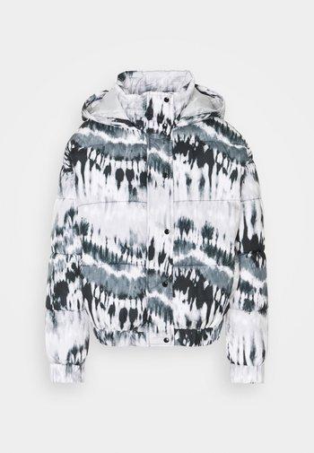 TIE DYE PUFFER - Winter jacket - black