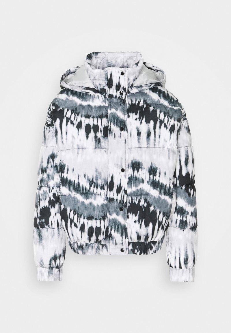 Missguided - TIE DYE PUFFER - Winter jacket - black