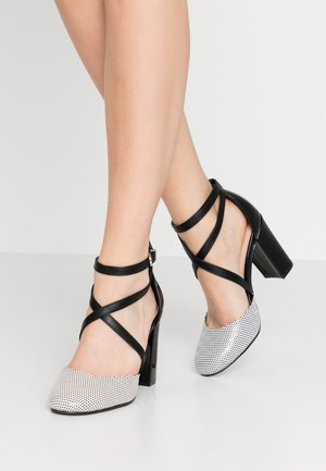 CURTIS - High heels - black/white