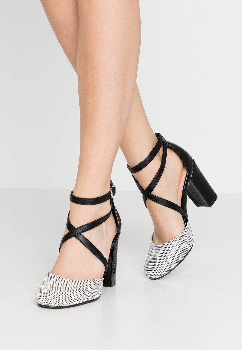 Wallis - CURTIS - High heels - black/white