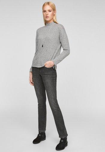 Long sleeved top - grey aop