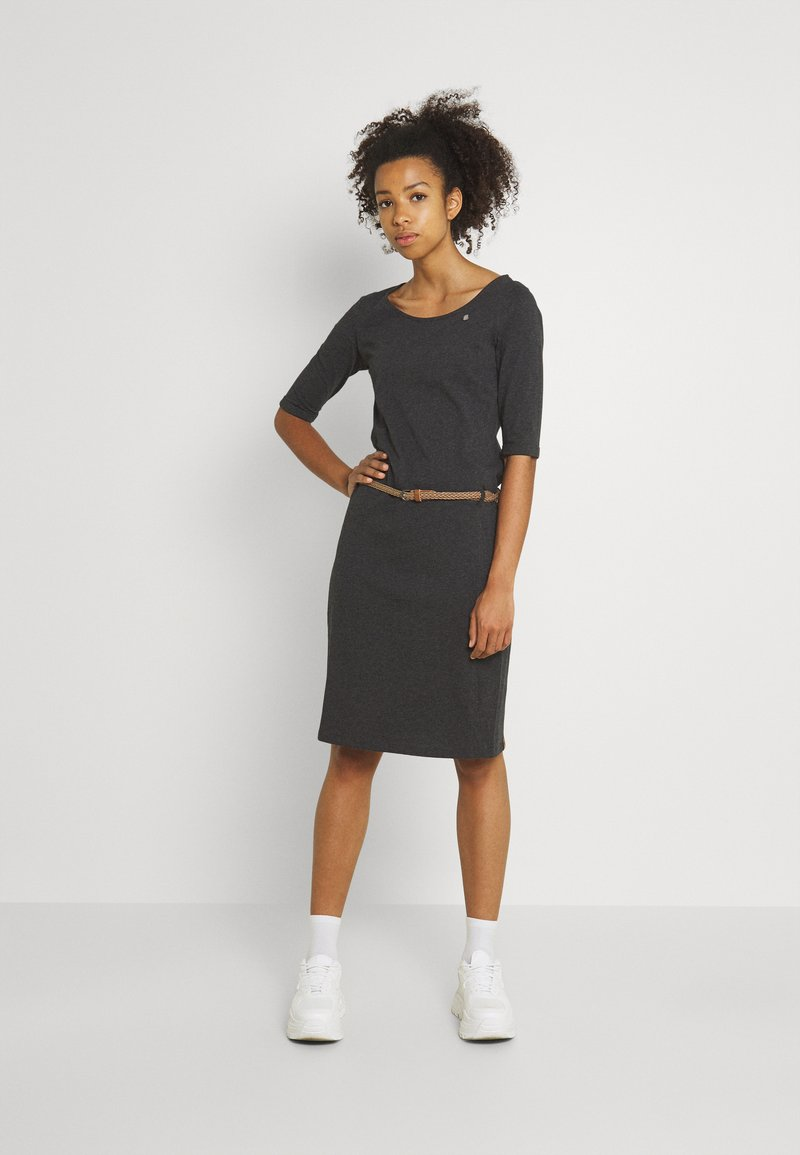 Ragwear - TAMILA  - Žerzejové šaty - dark grey