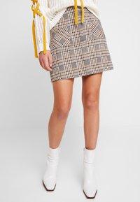 Dorothy Perkins - CHECK - A-line skirt - multi-coloured - 3