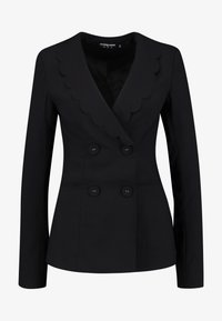 Fashion Union Tall - TORA SCALLOP TRIM - Blazer - black - 3