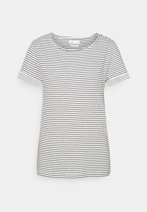 CROCHET - Print T-shirt - ivory