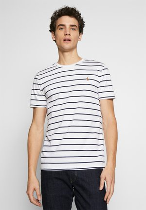 SOFT TOUCH - Print T-shirt - white/french navy