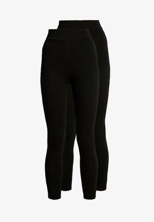 HIGH WAISTED 2 PACK - Leggings - black