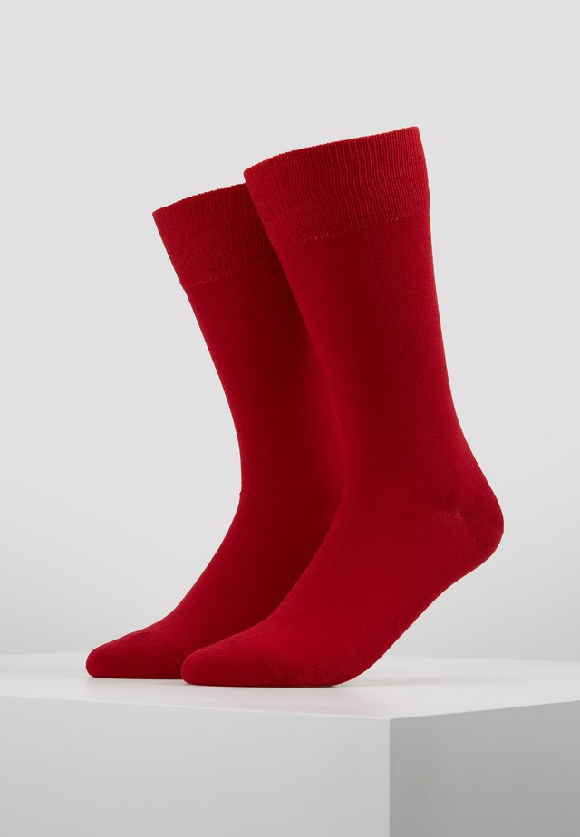 Happy 2-Pack Socks - Socks - scarlet