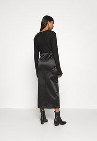 Weekday - SIGNE SKIRT - Pencil skirt - black - 2