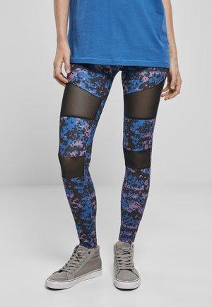 TECH - Leggings - Trousers - digital duskviolet camo