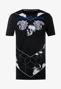 AFTERMATH - TIGER SKULL PRINT - Print T-shirt - black - 4