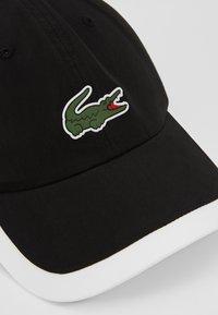 Lacoste Sport - TENNIS CAP - Cappellino - black/white - 5