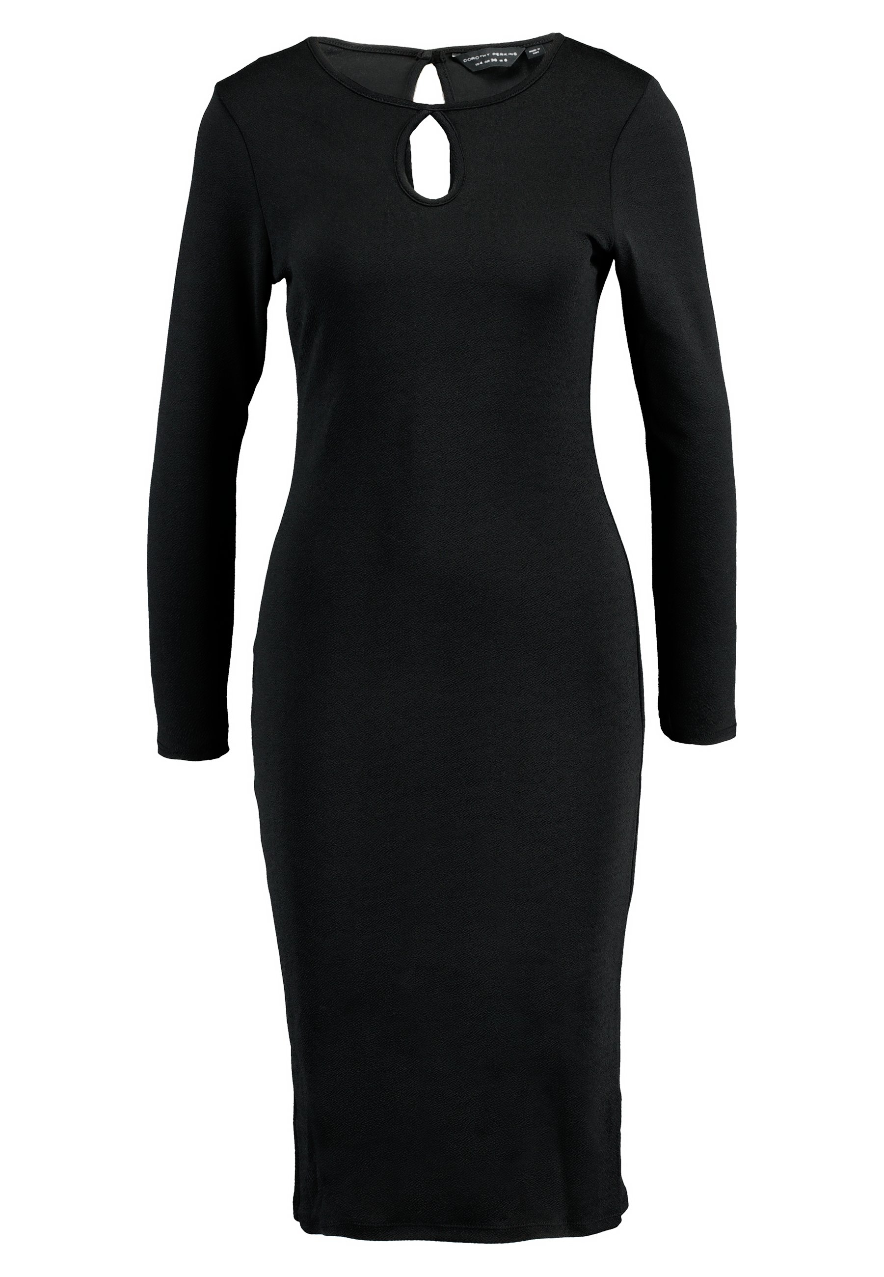 Dorothy Perkins Womens Long Sleeve Keyhole Bodycon Dress