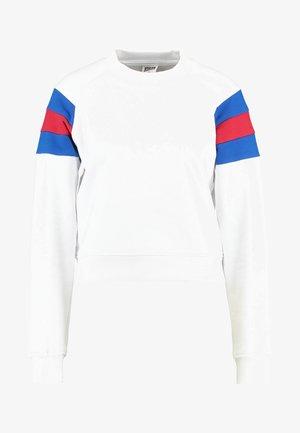 Sweatshirt - white/brightblue/firered