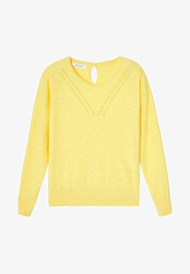 Pullover - jaune clair