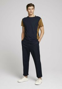 TOM TAILOR DENIM - Print T-shirt - sky captain blue - 1