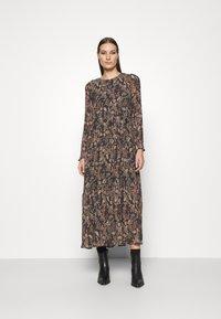 Lindex - DRESS KRINKLA - Maxi dress - offblack - 0
