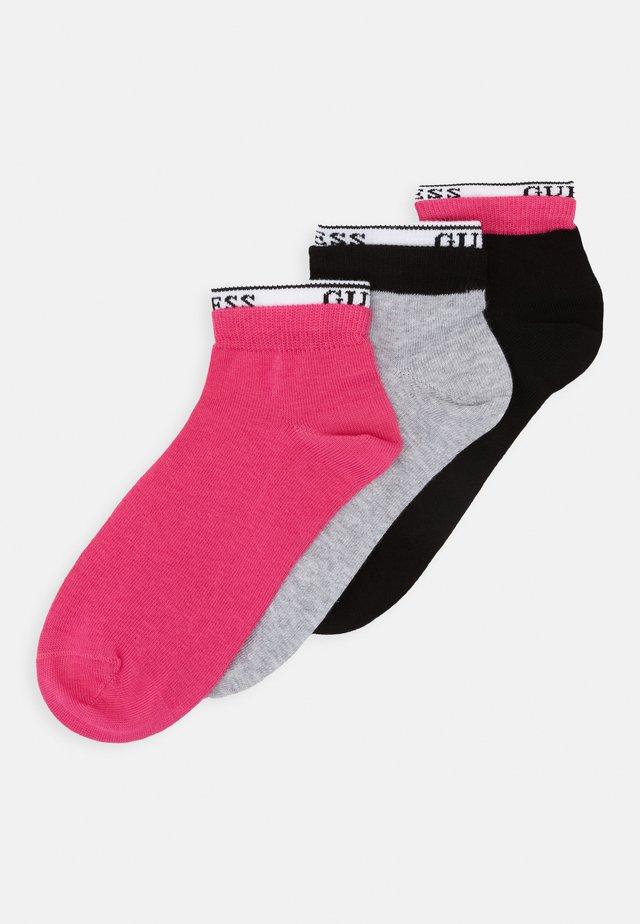 SNEAKER SOCKS 3 PACK - Calze - black/grey/pink