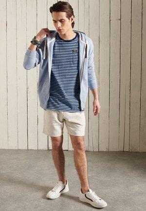 Printtipaita - indigo/pale blue marl stripe