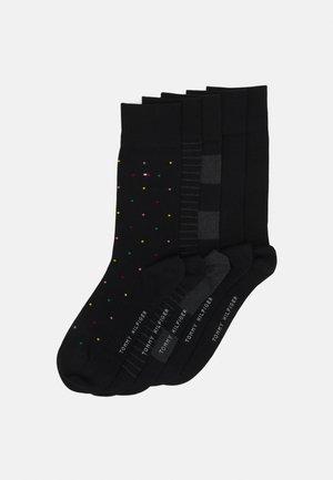 MEN SOCK TIN GIFTBOX STRIPE AND DOT 5 PACK - Socks - black