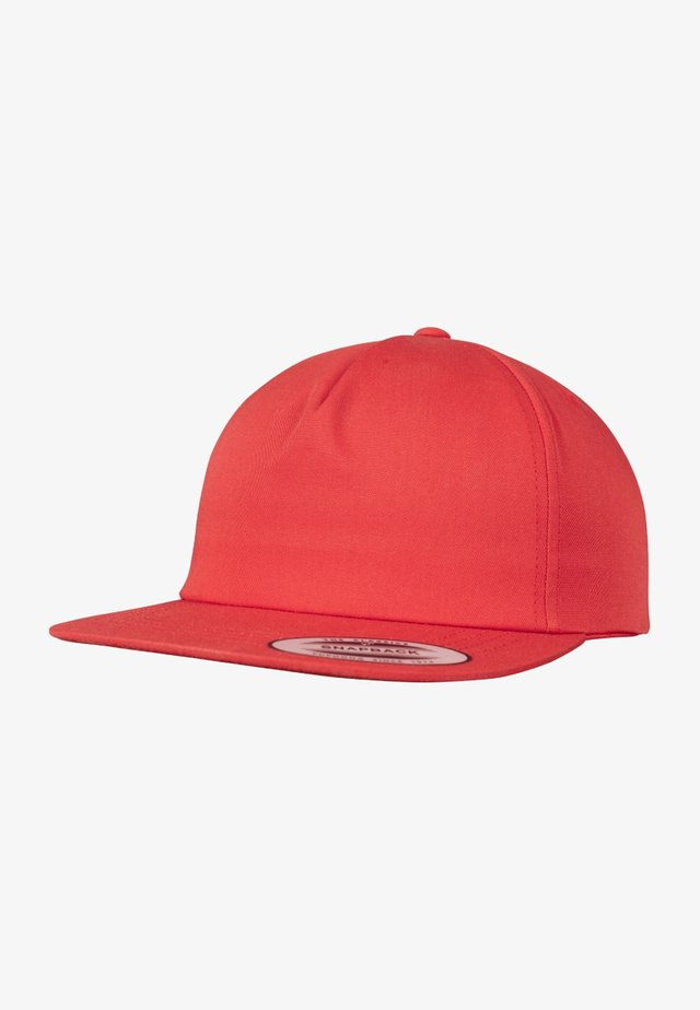 UNSTRUCTURED 5-PANEL SNAPBACK - Cappellino - red